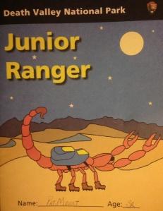 Junior Ranger booklet